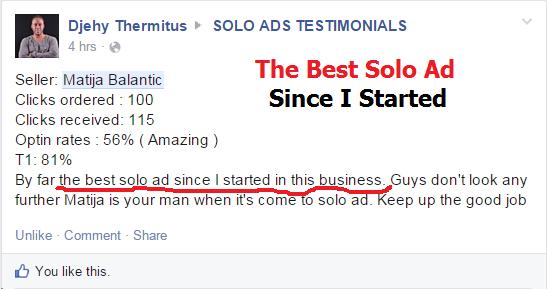 djehi solo ads testimonial